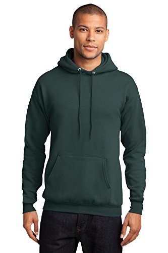 Port & Company PC78H 7.8-oz Pullover Hooded Sweatshirt - Dark Green - S