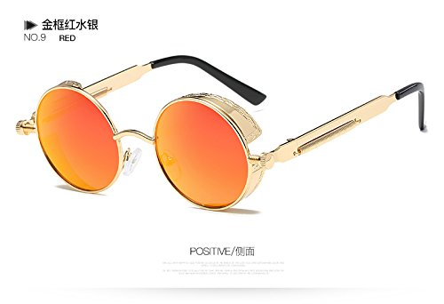Sol Sol Vintage De De Gafas Oro Hombre 58028C6 Del El Gafas De De Mujer 58028C9 Gafas Desde Gótico Rotonda De Metal Círculo Espejo TIANLIANG04 Steampunk wWzn0qUv8I