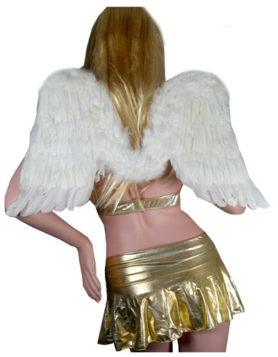 SACASUSA (TM) White Feather Angel Fairy Wings For Halloween Party -