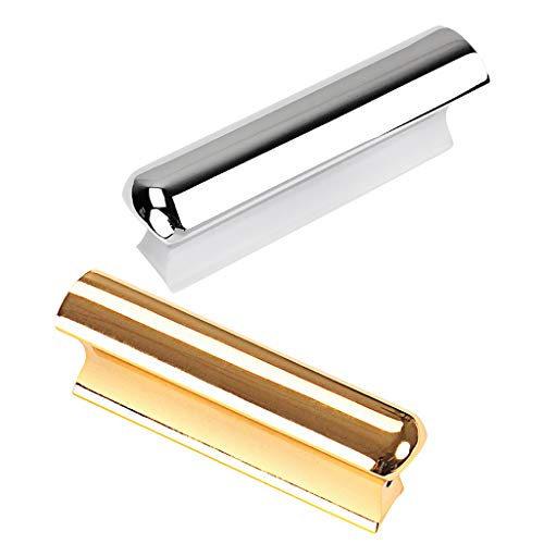 Baosity 2pcs Stainless Steel Tone Bar Lap Slide for Guitar Playing Performance