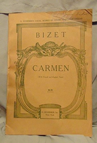 Carmen Sheet Music (Carmen (Opera in Four Acts, G. Schirmer Opera Score Editions))