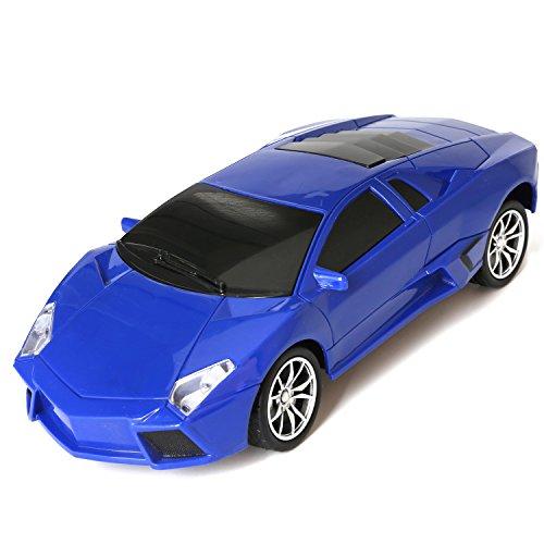 1/16 Scale Radio Remote Controlled Car Electric RC Vehicle Sports Car Drifting Race Model Car for Kids Adults Blue Lamborghini