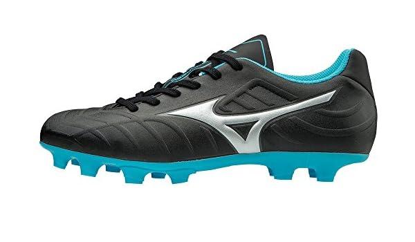 94b2edb24614 Amazon.com | Mizuno Rebula V3 Jr Soccer Cleat, Size 5, Black-Blue ...