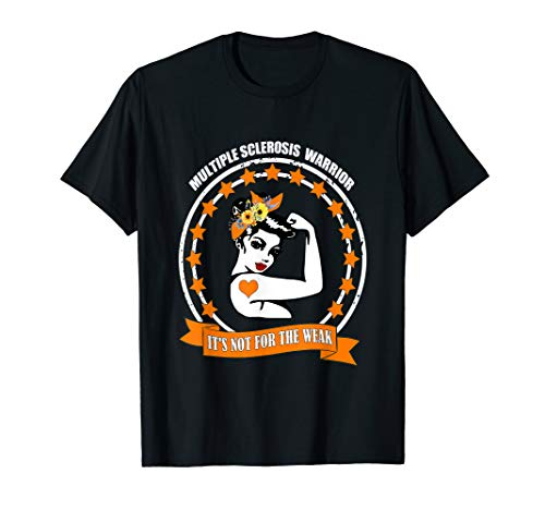 Multiple Sclerosis Awareness MS Warrior Mom Support Gifts T-Shirt