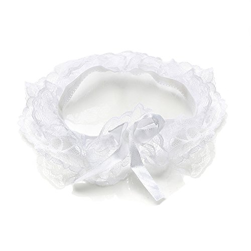 DRASEX Women's Sexy Lingerie Lace Bow Plus Size Garter Leg Ring Wedding Garter - (Lace Nylon Garter)