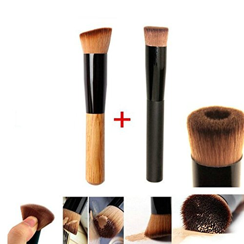 gybest-best-2pcs-premium-brushes-black-professional-face-concave-liquid-foundation-makeup-brush-cosm