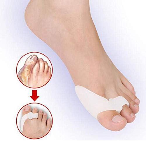 Tatapai Orthopädische Einlegesohlen 2 Paar Silikongel-Fußfinger Zwei-Loch-Zehentrenner Daumen Valgus Protectoradjusterguard Feet Care-Pink