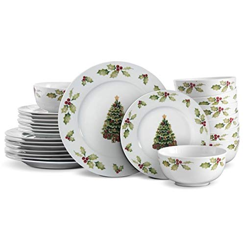 (Pfaltzgraff Christmas Day 24 Piece Dinnerware Set, Service for 8)