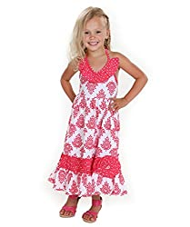 Jelly The Pug Samantha Fleur Maxi Woven Dress-8