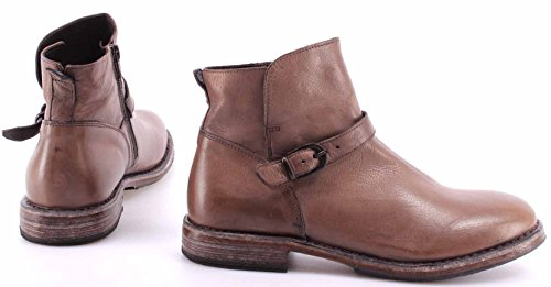 Zapatos Mujer Botines MOMA 77602-Y1 Pelle Stone Perl Calf Vitello Gray Italy New