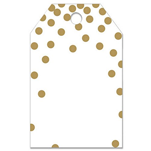 Metallic Gold Dots Printed Gift Tags - 2 1/4 x 3 1/2 -