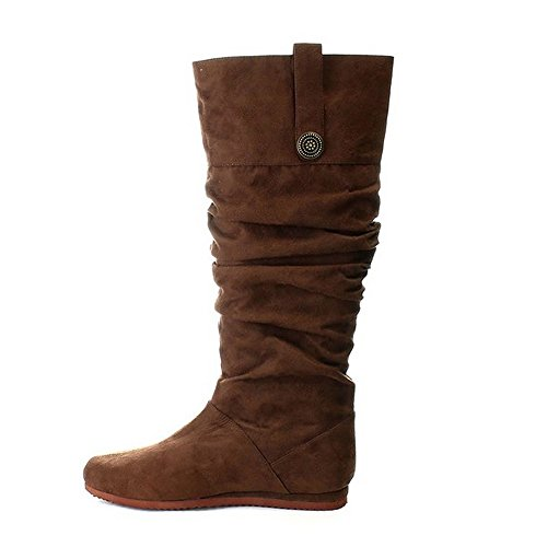 104 Small 8-9, Brown) Mens Boots (Indian Costume Boots)