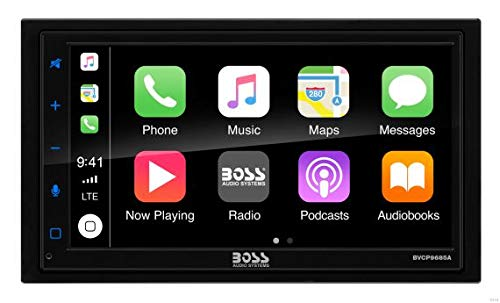"BOSS Audio BVCP9685A Apple CarPlay Android Auto Car Multimedia Player - Double Din Car Stereo, 6.75"" LCD Touchscreen Monitor, Bluetooth, MP3 Player, USB Port, Aux Input, AM/FM Car Radio"