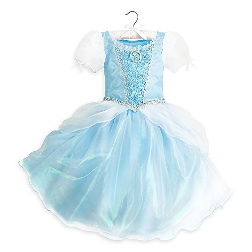 Cinderella Costumes 2016 (DISNEY STORE PRINCESS CINDERELLA COSTUME DRESS GOWN - BLUE ~ 2016 ~ 7/8)