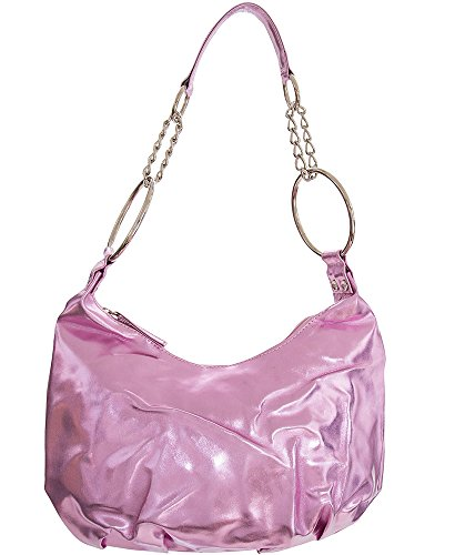 Shoulder handbag Shining Pink For women Chained Handbag Medium Handbags All Evening Hobo by OSaxdYn