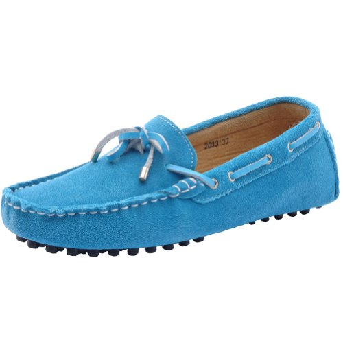 Molecole Moccasin Boots - plataformas rectas de goma mujer azul - azul