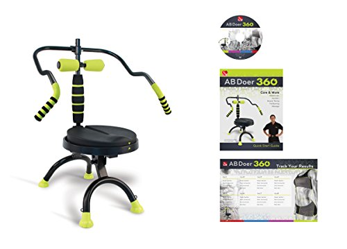 Abdominal+Machine Products : AB Doer 360  Transform Your Entire Body with Abdobics Ab Workout and Exercise Machine ( DVD Video and Nutrition Guidebook Included)