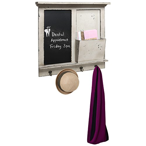 Vintage Mounted Chalkboard Magazine Holder