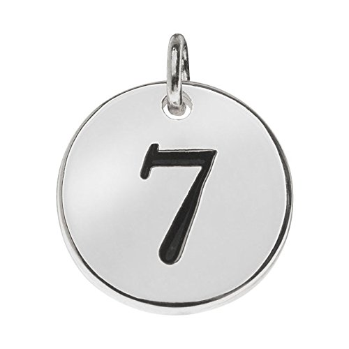 (Beadaholique Lead-Free Pewter, Round Number Charm '7' 13mm, 1 Piece, Silver Plated)