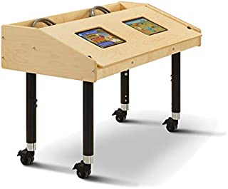 "product image for Jonti-Craft 3396JCM Dual Tablet Table, Mobile (24""-31"" Adjustable Height)"