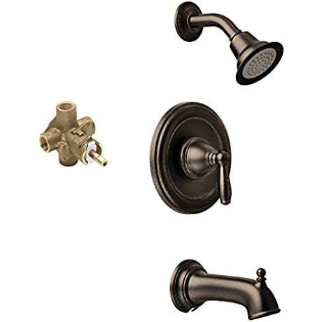 Moen KTSBR P T2153EPORB Brantford Showerhead And 6 1 2 Inch Spout Oil Rubbed Bronze