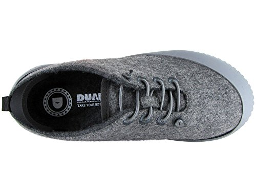 Wool Sole Light Slipper Grey 100 Dualyz Shoe Fit with Grey Removable Unisex Light zAntFq8