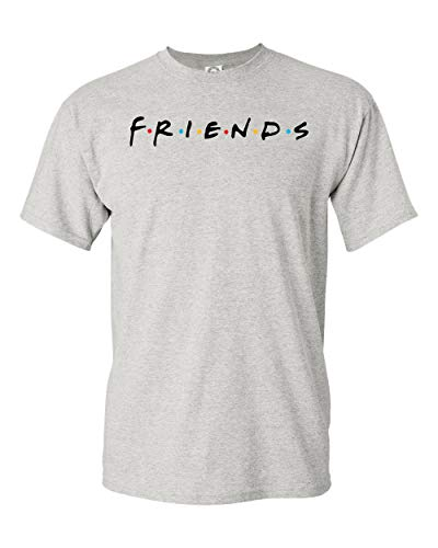Uzair Friends TV Show T-Shirts (Ash, Large)