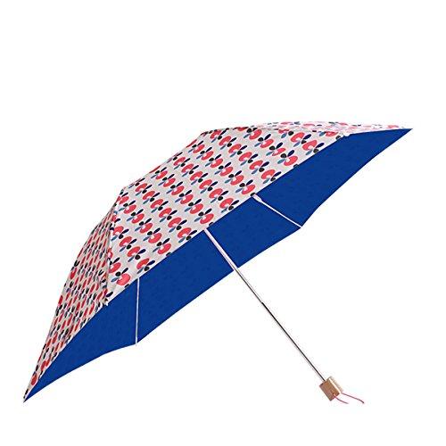 コルコ クイック オープン 折りたたみ傘 全8柄 手開き 日傘/晴雨兼用 リンゴンベリー 6本骨 50cm UVカット 軽量 コンパクト傘 81075 B01CQHSGYQ