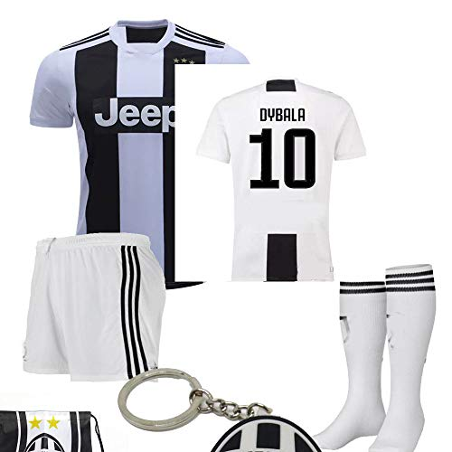 finest selection 35077 ea560 Juventus Serie A 2018 19 Ronaldo Dybala Replica Jersey Kid Kit : Shirt,  Short, Socks, Soccer Bag and