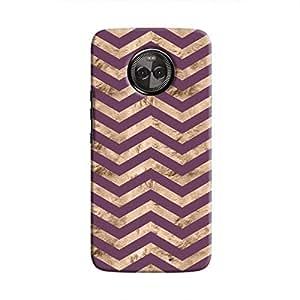 Cover It Up - Brown Purple Tri Stripes Moto X4 Hard case