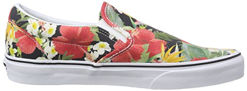 Vans - Classic Slip-on, Zapatillas Unisex adulto, Multicolor (stripes/navy), 35 EU Multicolor (digi Aloha/black/true White)
