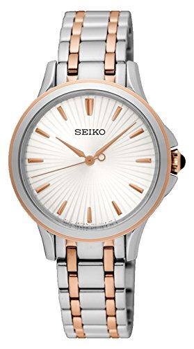 Seiko Reloj Analogico para Mujer de Cuarzo con Correa en Acero Inoxidable SRZ492P1: Amazon.es: Relojes