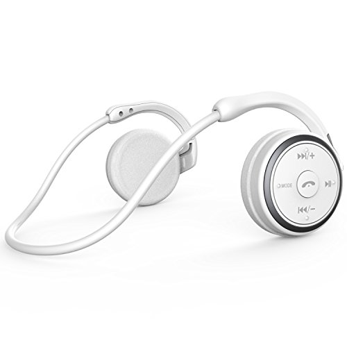 Small Bluetooth Headphones Wrap around Head - Sports Wireless Headset with Built in Microphone and Crystal-Clear Sound