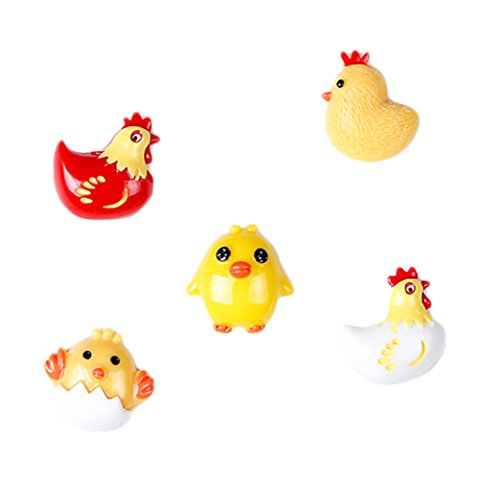 Chicken Refrigerator Magnets (CHOOLD 3D Cute Cartoon Animal Refrigerator Magnets Office Magnets Calendar Magnet Whiteboard Magnets Home Decoration (chick,Set of 5))