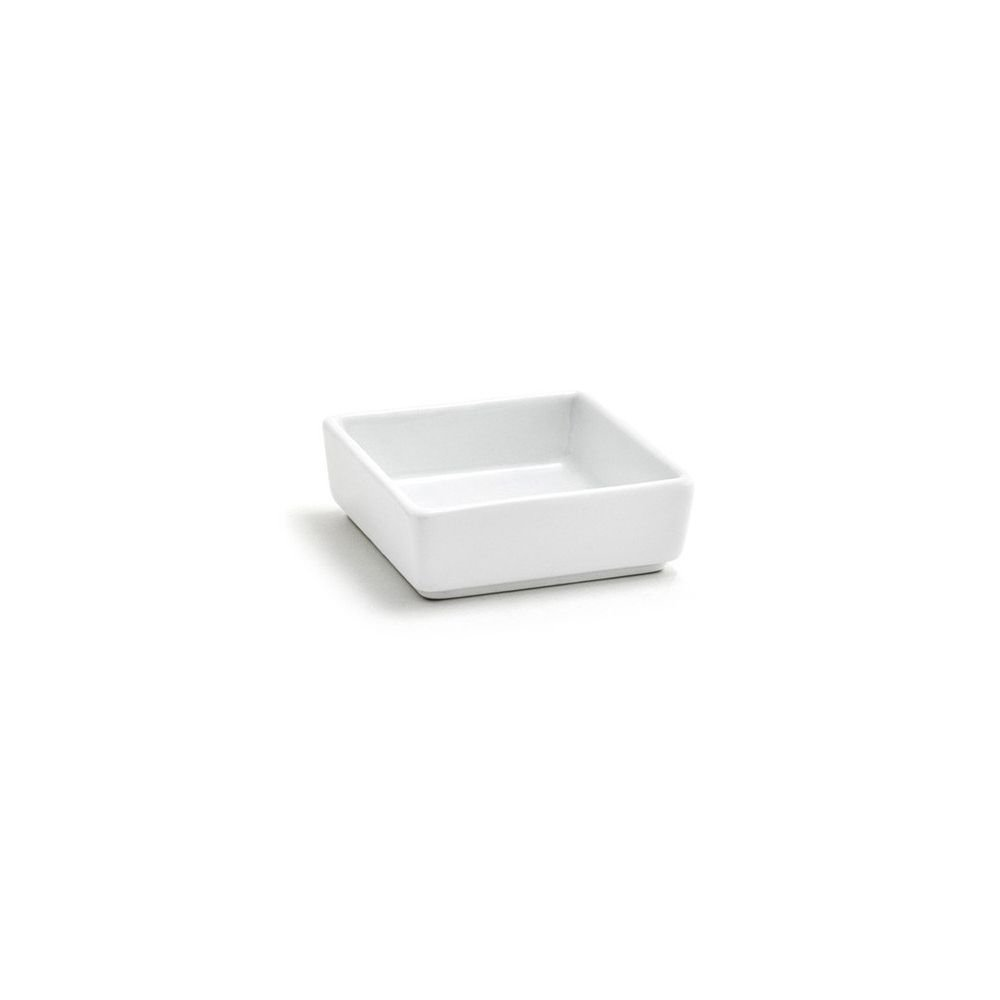 Front of the House DSD028WHP24 Mod Square Ramekin, 2.5'' Height, 2.5'' Length, 2.5 oz, Porcelain, White (Pack of 24)