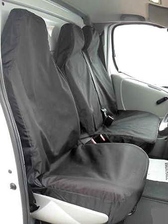 FOR CITROEN BERLINGO Enterprise HEAVY DUTY WATERPROOF BLACK VAN SEAT COVERS  2+1