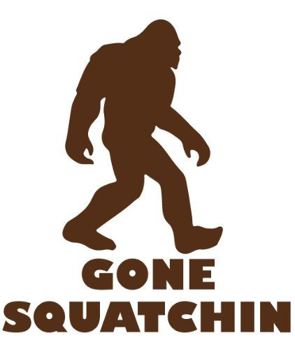 Bigfoot Sasquatch Vinyl Decal Gone Sasquatchin