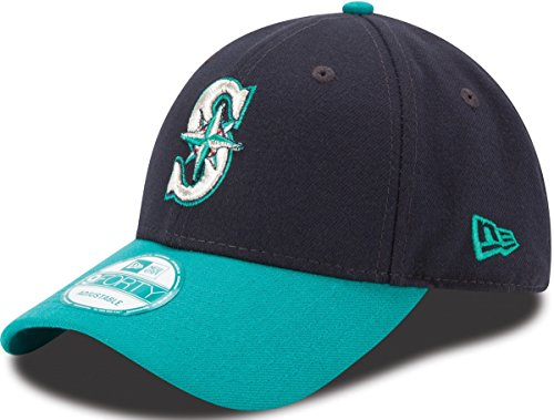 MLB Seattle Mariners The League 2Tone 9FORTY Adjustable Cap, One Size, Navy (Seattle Mariners Baseball Cap)