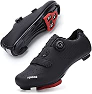 GENAI Women's Road Bike Cycling Shoes Included Cleats Compatible with SPD/MTB for Outdoor Cycling Shoes Mo