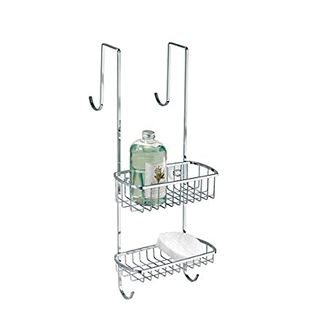 Amazon.com: mDesign Bathroom Over Shower Door Caddy for Shampoo ...