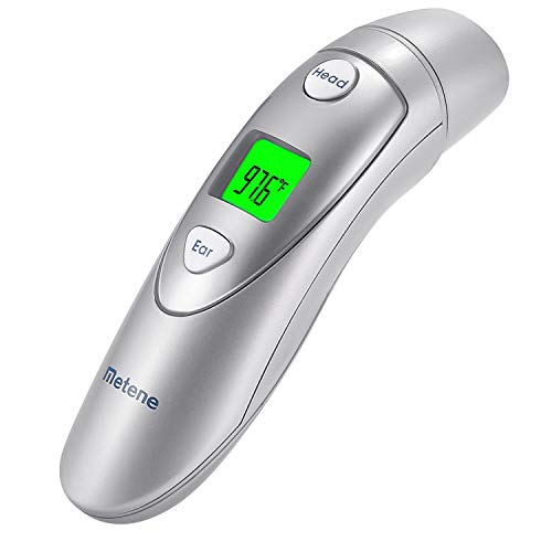 (Metene Medical Forehead and Ear Thermometer,Infrared Digital Thermometer Suitable for Baby, Infant, Toddler and Adults)