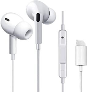 Wired Earbuds Earphones for iPhone 11 Pro, Noise Cancelling Earphones Earbuds in Ear Headphones Compatible with iPhone 12/12 Pro Max/11/Xs/Xs Max/XR/X/8 Plus/7 Plus