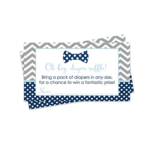 (Paper Clever Party Bow Tie Diaper Raffle Tickets - Baby Shower Game - Pack of 25)
