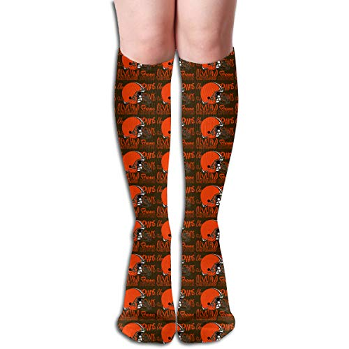 Marrytiny Custom Colourful Cleveland Browns Football Team Creativity Novel Women's Long Socks Girls Trendy Stocking -