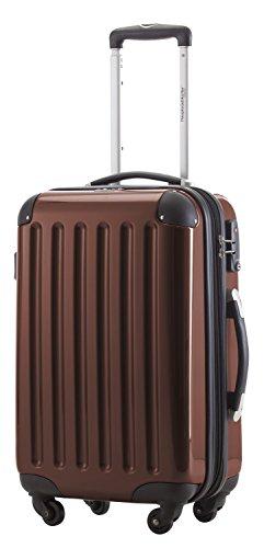 HAUPTSTADTKOFFER, Bagaglio a mano Rigida Alex, Taglia 55 cm, 42 Litri, Marronee, TSA e borsa trucco