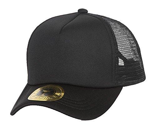TOP HEADWEAR TopHeadwear Low Profile Trucker Foam Mesh Hat, Black ()