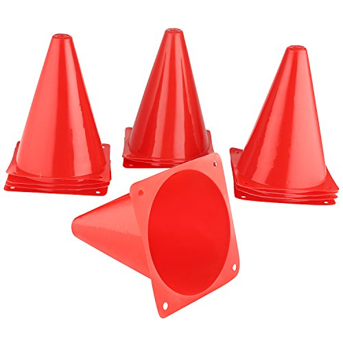 7 Inch Plastic Traffic Cones,Multipurpose Construction Theme Party Sports Activity Cones for Kids Outdoor and Indoor Gaming and Festive Events … (8 Pack) by My Charity Boxes, Inc.