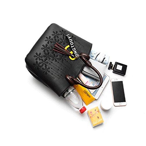 Coréen Sacs Épaule couleur Qi Messenger Noir Brodé Portable Yellowish Brown Charme Main Mode Sac Japonais Et Classique À Dei 4AP0qx0