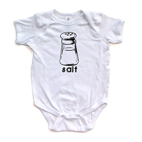 Twin Halloween Costume Ideas For Girls (Halloween Costume - Cute Twin Short Sleeve Bodysuit With Salt (Goes With Pepper) Print (Newborn, White))