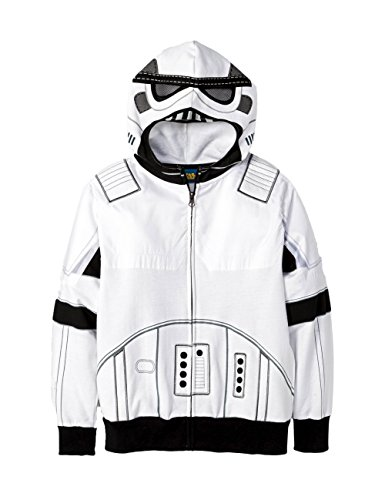 Star Wars Boys Storm Trooper Character Hoodie Zip Sweatshirt (M (Trooper Sweatshirt)